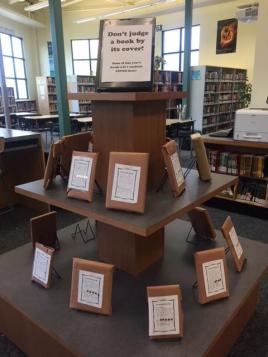 Mystery books display Sept 2018